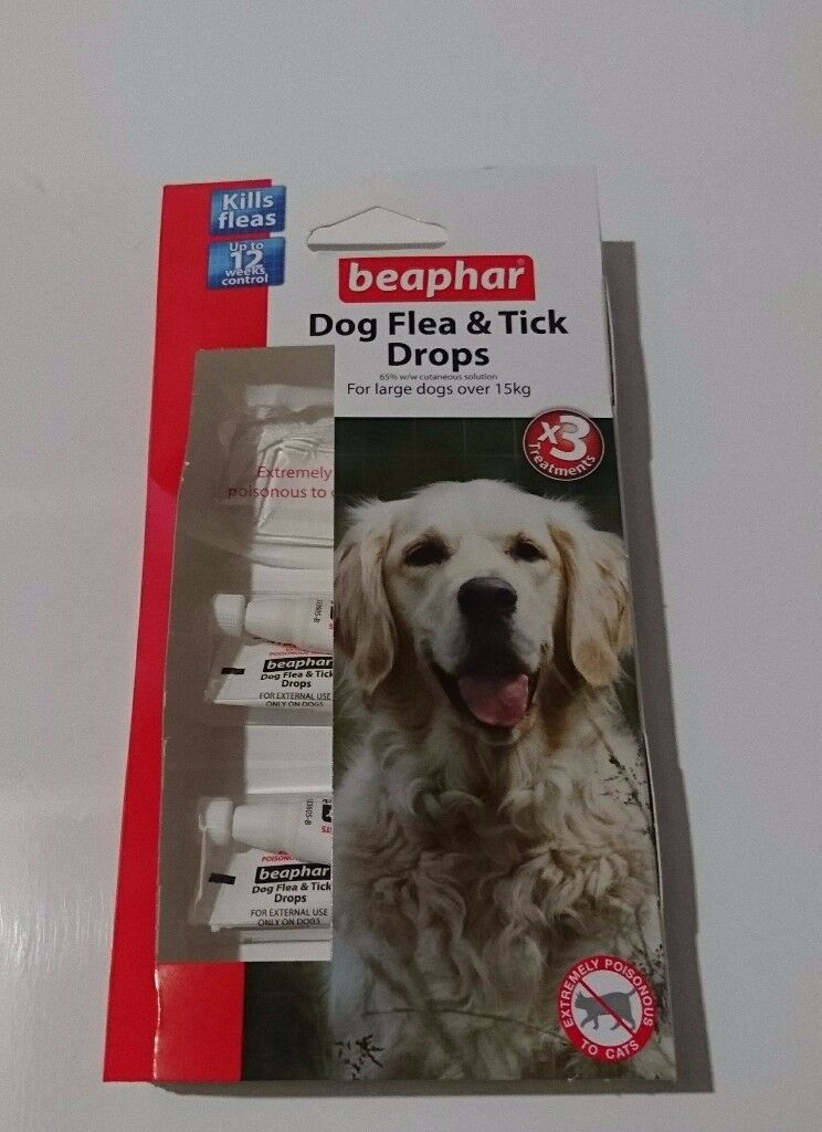 Beaphar Dog Flea and Tick Protection Drops - 2-4 months worth
