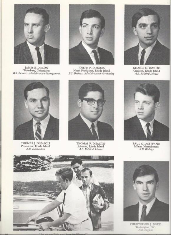 1966 PROVIDENCE COLLEGE YEARBOOK, THE VERITAS, PROVIDENCE, RI, CHRISTOPHER DODD
