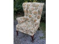 Parker Knoll wingback fireside chair - upholstery project