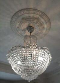 Swarovski Crystal Wave Chandelier Light
