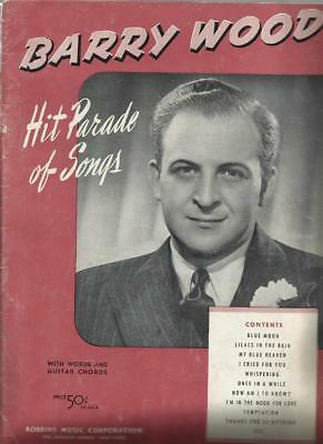 Barry Wood Hit Parade of Songs Piano Sheet Music 1930's Blue Moon Mood Big Band ()
