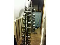 Pure Dumbbells 2 kg - 20 kg Stainless Steel with Rack