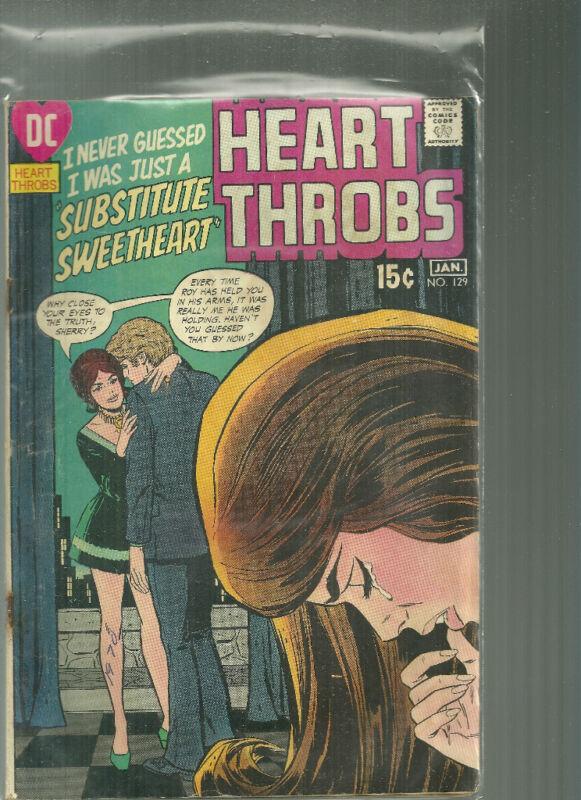 Heart Throbs #129 DC Romance Comic Book Substitute Sweetheart