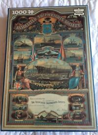 NEW AND SEALED - 1000 PIECE JIGSAW FROM WH SMITH-Associated Shipwright's Society
