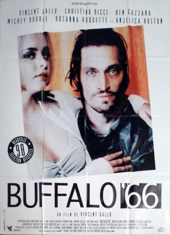 BUFFALO 66 - RICCI / GALLO / HUSTON - ORIGINAL LARGE FRENCH MOVIE POSTER