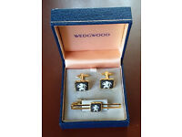 Wedgwood Cuff Links and Tie Pin
