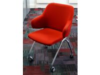 Komac Boss Design Red Skoot Chair Meeting Room Breakout on Wheels
