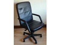 Black Leather Executive Swivel Chair