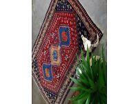 YASMIN - Antique Traditional Vintage Persian Wool 145 x 104cm Handmade Carpet Rugs