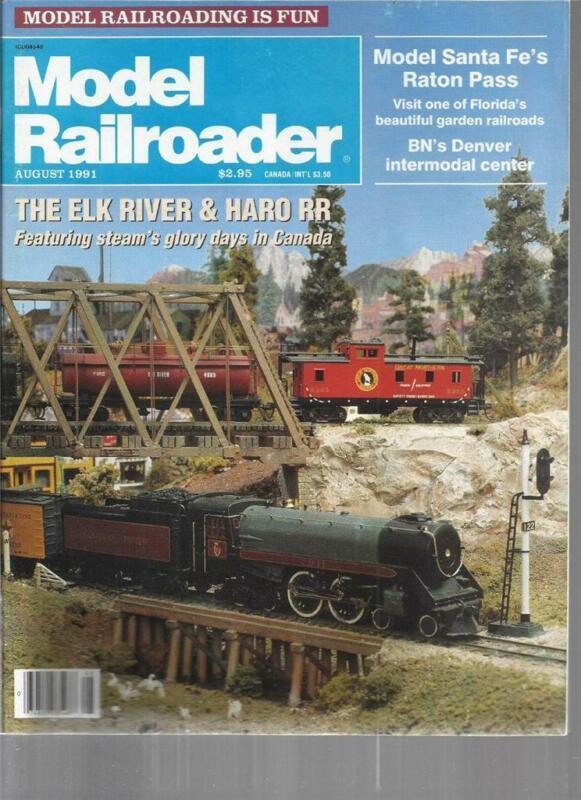Model Railroader August 1991 Colorado Cinder Car Drawings Elk River BC Layout