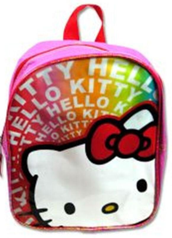 "Hello Kitty 10"" PVC Rainbow Mini Backpack"