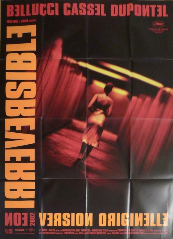 IRREVERSIBLE - 2020 REISSUE - BELLUCCI / CASSEL - LARGE FRENCH MOVIE POSTER