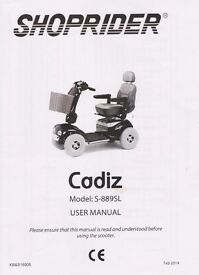 Shoprider Cadiz electric scooter