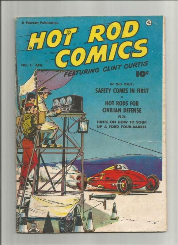 Vintage 1952 HOT ROD COMICS  #2 Clint Curtis Fawcett Publications