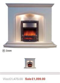 BRAND NEW IN BOX!! Housing units marble fire surround
