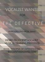 Trained Vocalist for Prog Metal Band