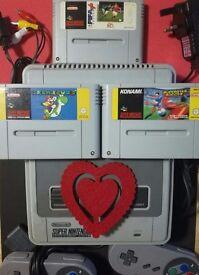 Valentine's Day Snes Bundle nintendo Super Mario World Super nintendo