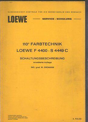 110° Farbtechnik LOEWE F 4400 S 4449 C Schaltungsbeschreibung Opta Fernseher