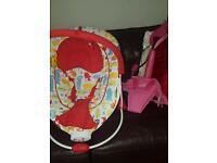 Bouncy chair and door bouncer