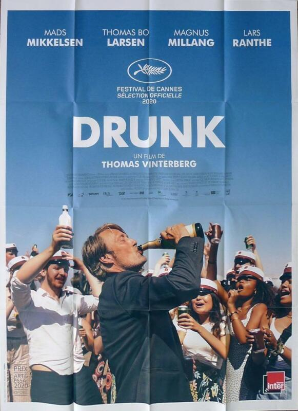 DRUNK / ANOTHER ROUND - CHAMPAGNE / MIKKELSEN / VINTERBERG - LARGE MOVIE POSTER