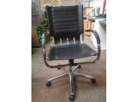 BLACK LEATHER SWIVEL CHAIR 18 AVAILABLE