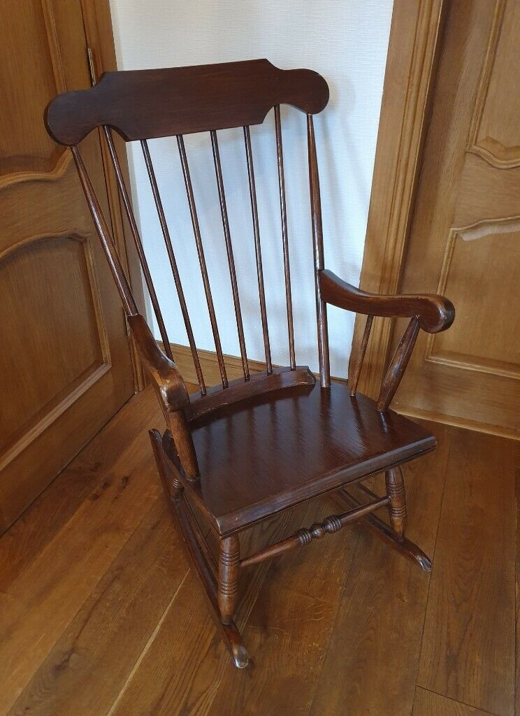 Prime Antique Rocking Chair In Motherwell North Lanarkshire Gumtree Short Links Chair Design For Home Short Linksinfo