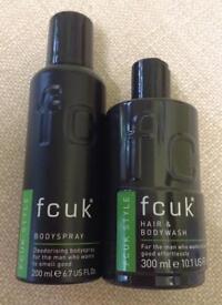 NEW fcuk STYLE Bodyspray + Hair & Bodywash
