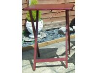 Camping fold up tables one Mahogony and one Beech for sale £10 each or the two for £15