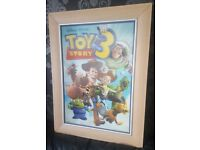 3D Disney Pixar Toy Story 3 Picture and Wooden Frame