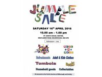JUMBLE SALE IN AID OF PARISH OF BILBOROUGH AND STRELLEY, 15 OCTOBER, 10.30 am