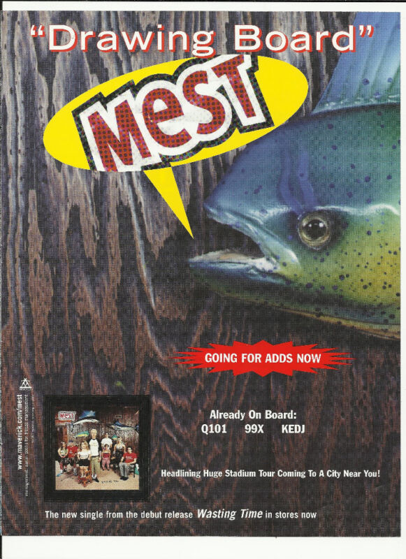 MEST Drawing Board Trade Ad POSTER of 1999 Wasting CD