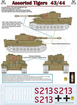 Decals for Wittmann German Tiger I, Kursk 43 1:16 Scale RC Tank