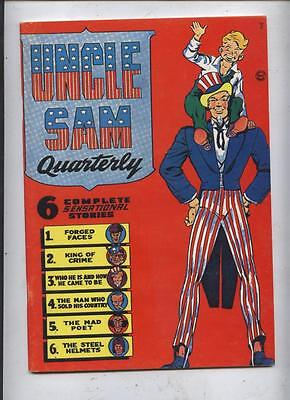 Uncle sam #1 will eisner   Flashback Golden Age Comic Reprint  Fanzine