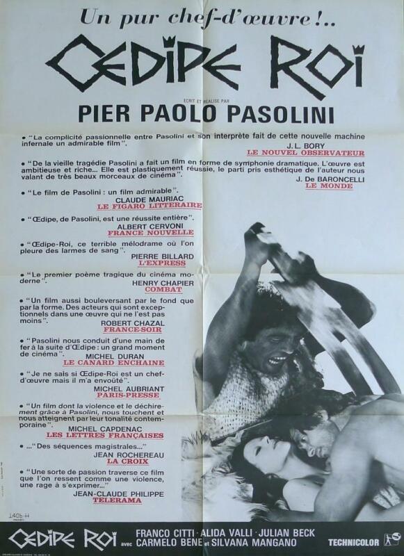 EDIPO RE / OEDIPUS REX - PIER PAOLO PASOLINI / MANGANO - ORIGINAL MOVIE POSTER