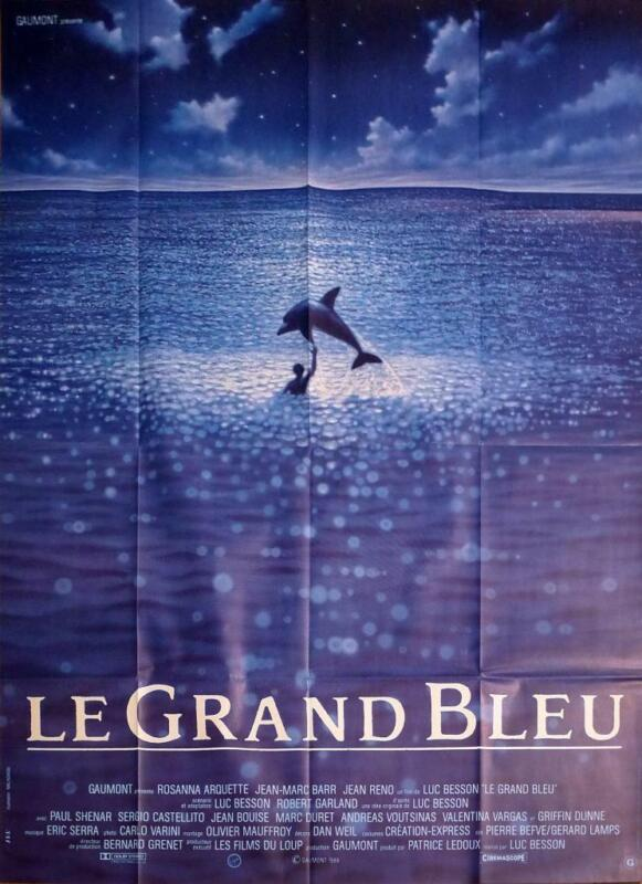 THE BIG BLUE - BESSON / DIVING / DOLPHIN - LE GRAND BLEU - ORIGINAL MOVIE POSTER