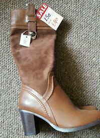 Brand new leather/suede boots. Size 6