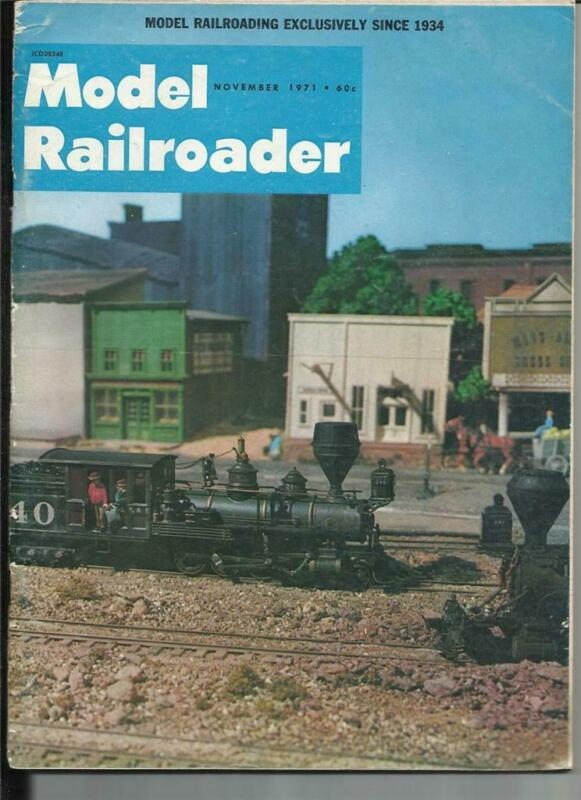 Model Railroader Nov 1971 CP Observation Car Edgebrook Commuter Shelter Drawings