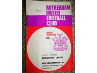 Rotherham United Football Programmes from the 1960s