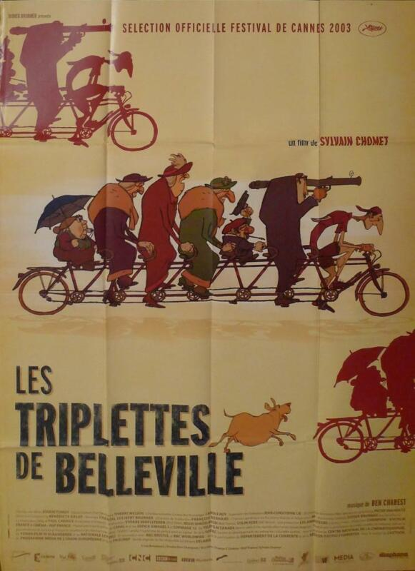 THE TRIPLETS OF BELLEVILLE - CHOMET - ORIGINAL LARGE FRENCH MOVIE POSTER