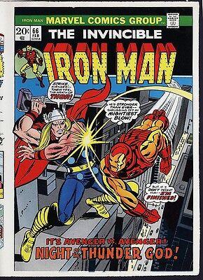 Iron Man 66 COVER PROOF ART Thor vs IronMan Gil Kane 1973 Marvel Comics Avengers ()