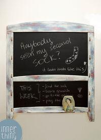 Shabby Chic Chalkboard with Eraser