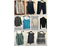 Size 16 clothing bundle. Mostly tops 1 pair 3/4 jeans ex condition