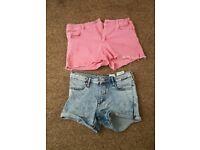 Zara and h n m shorts
