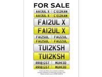 Private Number plates, personalised starting from 500 to 12000