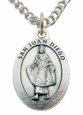 San Juan Diego (Guadalupe Saint Medal) Medalla Colgante 3/4