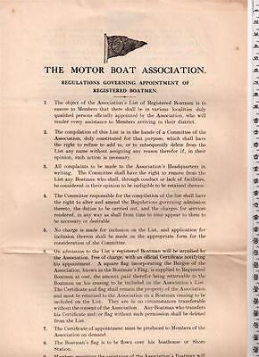 Motor Boat Association Form for Registering Boatmen