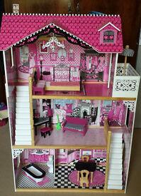 KidKraft Amelia Dolls House (fits Barbie or Monster High dolls) + many extras