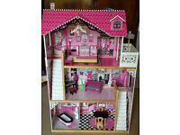 KidKraft Amelia Dolls House (fits Barbie or Monster High dolls) + many extras