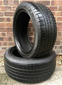 225 45 17 DUNLOP RUN FLAT tyres X2 for BMW