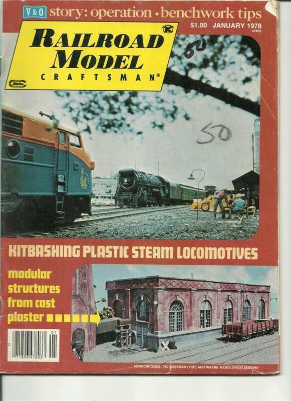Model Railroad Craftsman January 1978 CN Coach Caboose Drawings Plaster Walls